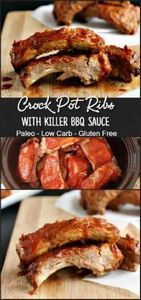 Crock Pot Ribs & Killer BBQ Sa - 285 Crock Pot Recipes - RecipePin.com