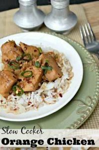 Slow Cooker Orange Chicken Recipe - 285 Crock Pot Recipes - RecipePin.com