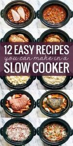 12 EASY recipes for the slow cooke - 285 Crock Pot Recipes - RecipePin.com