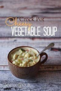 Crock Pot Cheesy Vegetable Soup - 285 Crock Pot Recipes - RecipePin.com