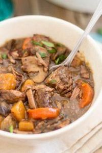 This Paleo Slow Cooker Beef Bourgi - 285 Crock Pot Recipes - RecipePin.com