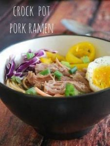 Slow Cooker Pork Ramen - Super eas - 285 Crock Pot Recipes - RecipePin.com