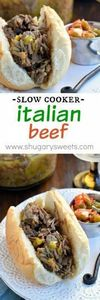Slow Cooker Italian Beef - 285 Crock Pot Recipes - RecipePin.com