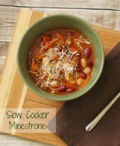 Slow Cooker Minestrone #Recipe #Ca - 285 Crock Pot Recipes - RecipePin.com