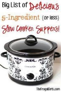 Big List of Delicious 5-Ingredient - 285 Crock Pot Recipes - RecipePin.com