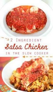 2 ingredient Salsa Chicken in the  - 285 Crock Pot Recipes - RecipePin.com