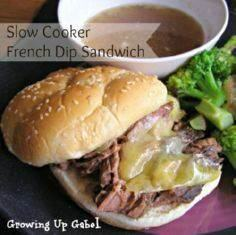 Slow Cooker French Dip Sandwich Re - 285 Crock Pot Recipes - RecipePin.com