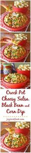 Crock Pot Cheesy Salsa, Black Bean - 285 Crock Pot Recipes - RecipePin.com