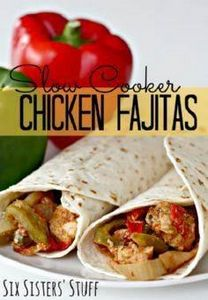 Slow Cooker Chicken Fajitas on Six - 285 Crock Pot Recipes - RecipePin.com