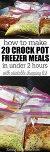 10 Crock pot Freezer Meals in unde - 285 Crock Pot Recipes - RecipePin.com