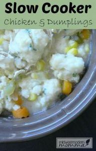 Slow Cooker Chicken and Dumplings  - 285 Crock Pot Recipes - RecipePin.com