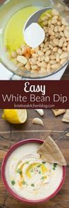 This Easy White Bean Dip is one of - 190 Dip Recipes - RecipePin.com