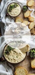 Slow cooker french onion soup dip  - 190 Dip Recipes - RecipePin.com