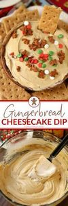 This Gingerbread Cheesecake Dip is - 190 Dip Recipes - RecipePin.com