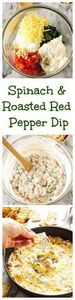 Spinach and Roasted Red Pepper Dip - 190 Dip Recipes - RecipePin.com