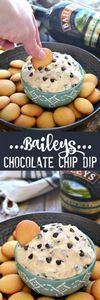 This Baileys Chocolate Chip Dip is - 190 Dip Recipes - RecipePin.com