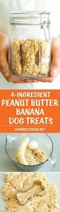 Peanut Butter Banana Dog Treats -  - 400 Dog Food And Dog Treat Recipes - RecipePin.com