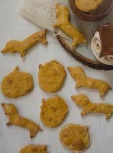 Grain-Free Pumpkin Dog Treats by a - 400 Dog Food And Dog Treat Recipes - RecipePin.com
