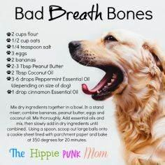 DIY Bad Breath Bones for your pup  - 400 Dog Food And Dog Treat Recipes - RecipePin.com