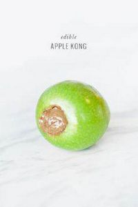 DIY: Edible Apple Kong Dog Toy - j - 400 Dog Food And Dog Treat Recipes - RecipePin.com