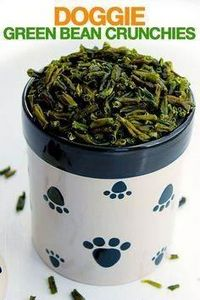 Green Bean Crunchies — What a grea - 400 Dog Food And Dog Treat Recipes - RecipePin.com