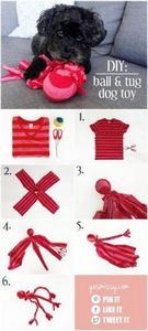 DIY dog toys - make this easy no s - 400 Dog Food And Dog Treat Recipes - RecipePin.com