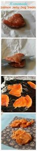 Homemade Salmon Jerky Dog Treats.  - 400 Dog Food And Dog Treat Recipes - RecipePin.com