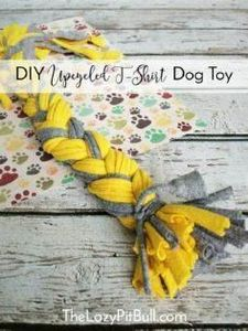 #DIY Upcycled T-Shirt Dog Toy   ht - 400 Dog Food And Dog Treat Recipes - RecipePin.com