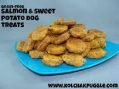 Grain Free Sweet Potato & Salm - 400 Dog Food And Dog Treat Recipes - RecipePin.com