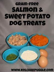 grain free salmon and sweet potato - 400 Dog Food And Dog Treat Recipes - RecipePin.com