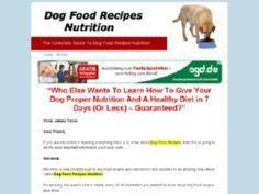 Dog Food Recipes Nutrition - 400 Dog Food And Dog Treat Recipes - RecipePin.com