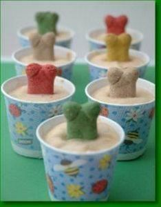 Peanut Butter Frozen Treats for Do - 400 Dog Food And Dog Treat Recipes - RecipePin.com