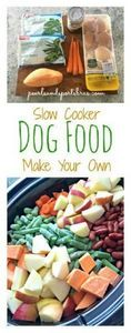 Home made dog food in the slow coo - 400 Dog Food And Dog Treat Recipes - RecipePin.com
