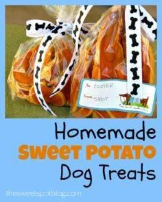 Homemade Dog Treats: Sweet Potato  - 400 Dog Food And Dog Treat Recipes - RecipePin.com
