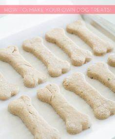 How To: Make Your Own DIY Dog Trea - 400 Dog Food And Dog Treat Recipes - RecipePin.com