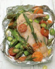 roasted chicken breast with cherry - 290 Foil Packet Recipes - RecipePin.com