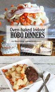 These indoor hobo dinners are perf - 290 Foil Packet Recipes - RecipePin.com