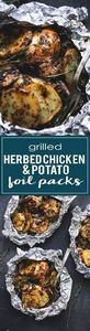Grilled Herbed Chicken & Potat - 290 Foil Packet Recipes - RecipePin.com