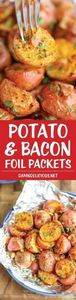 Potato and Bacon Foil Packets - Fl - 290 Foil Packet Recipes - RecipePin.com