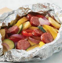 quick summer dinner with sausage,  - 290 Foil Packet Recipes - RecipePin.com