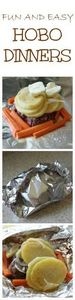 Hobo Dinners are a no mess, fun an - 290 Foil Packet Recipes - RecipePin.com