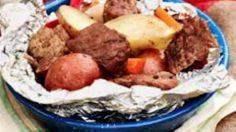 Beef cubes are sealed in tin foil  - 290 Foil Packet Recipes - RecipePin.com