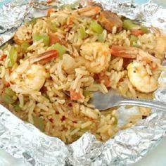 Quick and Healthy Jambalaya made i - 290 Foil Packet Recipes - RecipePin.com