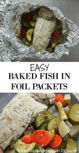Easy Baked Fish in Foil Packets fr - 290 Foil Packet Recipes - RecipePin.com