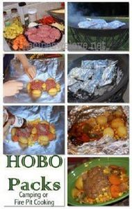 Hobo Packs ( cooking in the fire)  - 290 Foil Packet Recipes - RecipePin.com