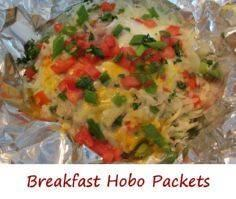 Breakfast Hobo Packets - 290 Foil Packet Recipes - RecipePin.com