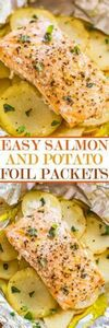 Easy Salmon and Potato Foil Packet - 290 Foil Packet Recipes - RecipePin.com