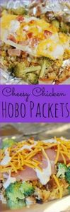 Cheesy Chicken Hobo Packets - stuf - 290 Foil Packet Recipes - RecipePin.com