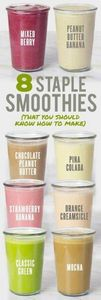 8 Staple Smoothies That You Should - 125 Freezer Smoothie Pack Recipes - RecipePin.com
