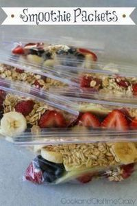 Smoothie Packets - The easy prep n - 125 Freezer Smoothie Pack Recipes - RecipePin.com